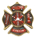IWGAC 0170-05207 Fireman Cast Iron Wall Plaque