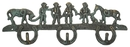 IWGAC 0170J-01234 Cast Iron Cowboys & Horses Hook Set of 2