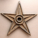 IWGAC 0170J-02105Bulk Cast Iron Star - Center Hole X-Large 24 Pieces