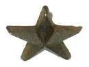 IWGAC 0170J-02111 Cast Iron Nail Star - Small Set of 12