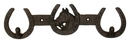 IWGAC 0170J-04180 Cast Iron Horse Horseshoe 2 Hook Rack