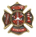 IWGAC 0170J-05207Bulk Fireman Cast Iron Wall Plaque Bulk