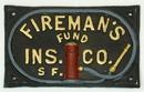 IWGAC 0170J-05538 Fireman's Fund Ins Co Cast Iron Plaque