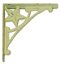 IWGAC 0170J-06511 Cast Iron Star Corner Brace Set of 2