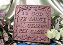 IWGAC 0170J-07547 Cast Iron In God We Trust Plaque Set / 2