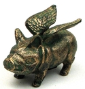 IWGAC 0170J-07654 Cast Iron Flying Pig Bank