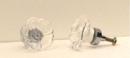 IWGAC 0170J-51538S Clear Rose Cut Crystal Cupboard Knob Silver