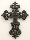 IWGAC 0170K-03621 Fleur De Lis Cross Set of 2