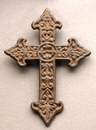 IWGAC 0170K-03642 Solid Cast Iron Fleur De Lis Cross