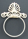 IWGAC 0170K-11601 Cast Iron White Towel Ring Set of 2