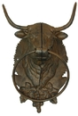 IWGAC 0170K-11614 Cast Iron Bull Towel Holder Hat Rack