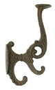 IWGAC 0170S-01207 Solid Cast Iron Victorian Coat Hook Set of 2