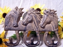 IWGAC 0170S-01512 Rustic Brown Cast Iron 3 Horse Hook