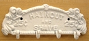 IWGAC 0170s-01614W Haircut/Shave Wall Hook White