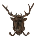 IWGAC 0170S-01648X FLAWED Cast Iron Elk Deer Head Wall Hook CLOSEOUT