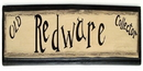 IWGAC 0172-20206 Wood Sign 'Old Redware Collector'