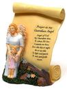 IWGAC 0172-3017 Guardian Angel w Girl Scroll Plaque