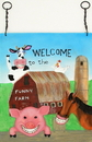 IWGAC 0179-2608 Funny Farm Wall Plaque