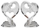 IWGAC 0182-38779-2 Roman Acrylic Angel in Heart Set of Two