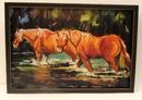 IWGAC 0183-38417 Big Sky DW Horses in Water Metal Art