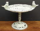 IWGAC 0184-0170-W Antique White Bird Bath