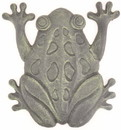 IWGAC 0184J-0026A-B Frog Stepping Stone Antique Bronze