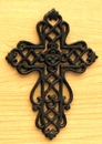 IWGAC 0184J-01051 Small Cast Iron Cross with Scrolls