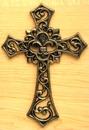 IWGAC 0184J-01331 Fleur De Lis Cast Iron Cross