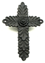 IWGAC 0184J-0244-2 Antiqued Rust Cast Iron Cross Set of 2