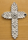 IWGAC 0184J-0244W-2 White Antiqued Cast Iron Cross Set of 2