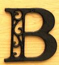 IWGAC 0184J-0557-B Cast Iron Letter B