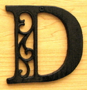 IWGAC 0184J-0557-D Cast Iron Letter D