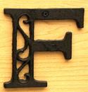 IWGAC 0184J-0557-F Cast Iron Letter F
