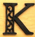 IWGAC 0184J-0557-K Cast Iron Letter K