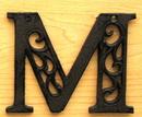 IWGAC 0184J-0557-M Cast Iron Letter M