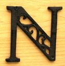 IWGAC 0184J-0557-N Cast Iron Letter N