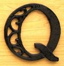 IWGAC 0184J-0557-Q Cast Iron Letter Q