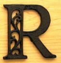 IWGAC 0184J-0557-R Cast Iron Letter R
