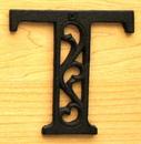IWGAC 0184J-0557-T Cast Iron Letter T
