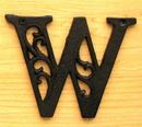 IWGAC 0184J-0557-W Cast Iron Letter W