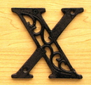 IWGAC 0184J-0557-X Cast Iron Letter X