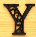 IWGAC 0184J-0557-Y Cast Iron Letter Y