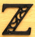 IWGAC 0184J-0557-Z Cast Iron Letter Z