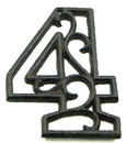 IWGAC 0184J-0558-4Bulk Cast Iron Number Four Set of 10
