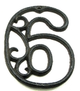 IWGAC 0184J-0558-6 Cast Iron Number Six