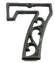 IWGAC 0184J-0558-7 Cast Iron Number Seven