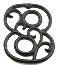 IWGAC 0184J-0558-8Bulk Cast Iron Number Eight Set of 10