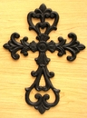 IWGAC 0184J-106A Medium Cast Iron Fleur De Lis Cross