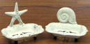 IWGAC 0184J-11113 Seashell & Starfish Soap Dish Set/2