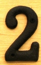 IWGAC 0184J-13021-2 Solid Cast Iron Number 2